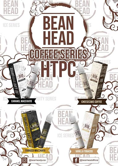Bean Head Coffee Series HTPC tinh dầu vape Pod Saltnic