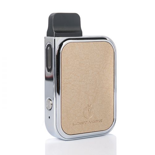 Lost Vape Prana Pod Kit leather_champagne_gold