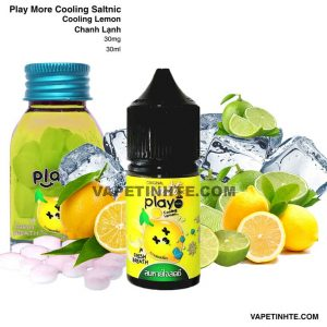 Play Saltnic (Chanh lạnh) Cooling Lemon Play More 30mg 30ml