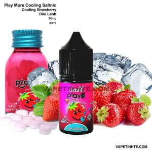Play Saltnic (Dâu lạnh) Cooling Strawberry Play More 30mg 30ml