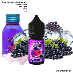 Play Saltnic (Nho lạnh) Cooling Grape Play More 30mg 30ml