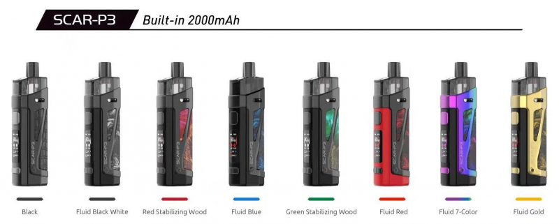 Smok Scar-P3 80w Pod Kit Full color 2