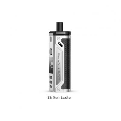 Lost Vape Thelema 80W Pod Kit SS Leather